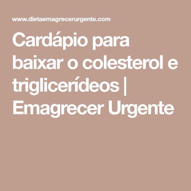 dieta para baixar o triglicerides