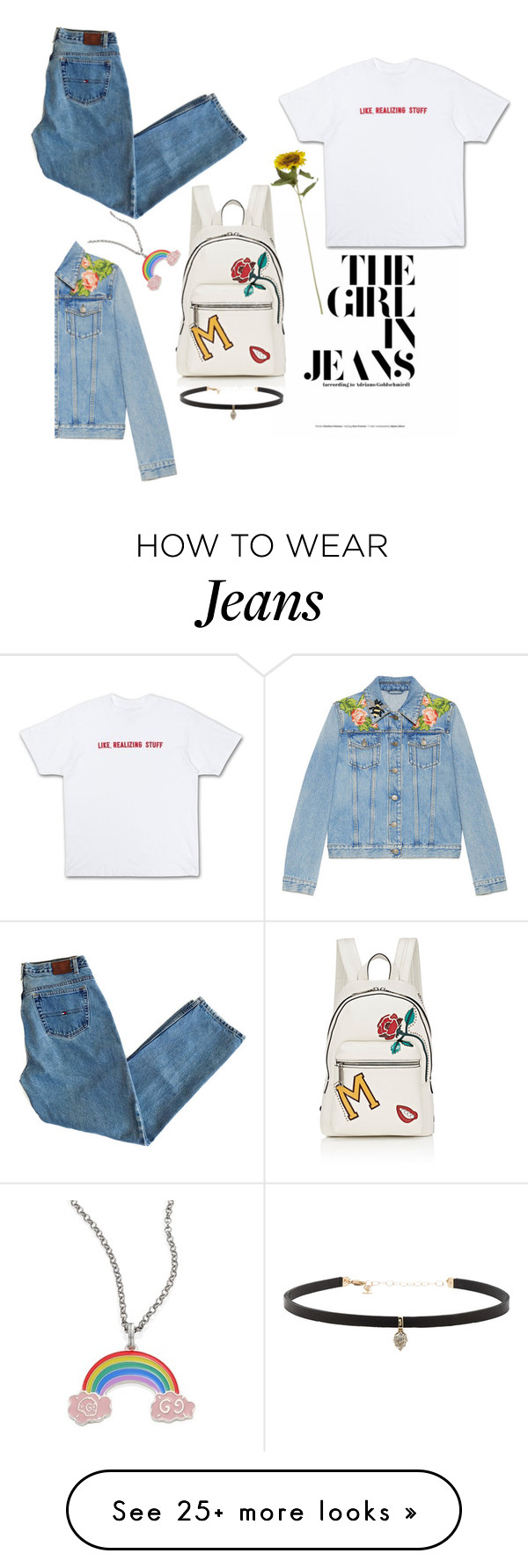 """""""The Girl in Jeans"""" by nagitautamid on Polyvore featuring Gucci, Marc Jacobs and Carbon & Hyde"""