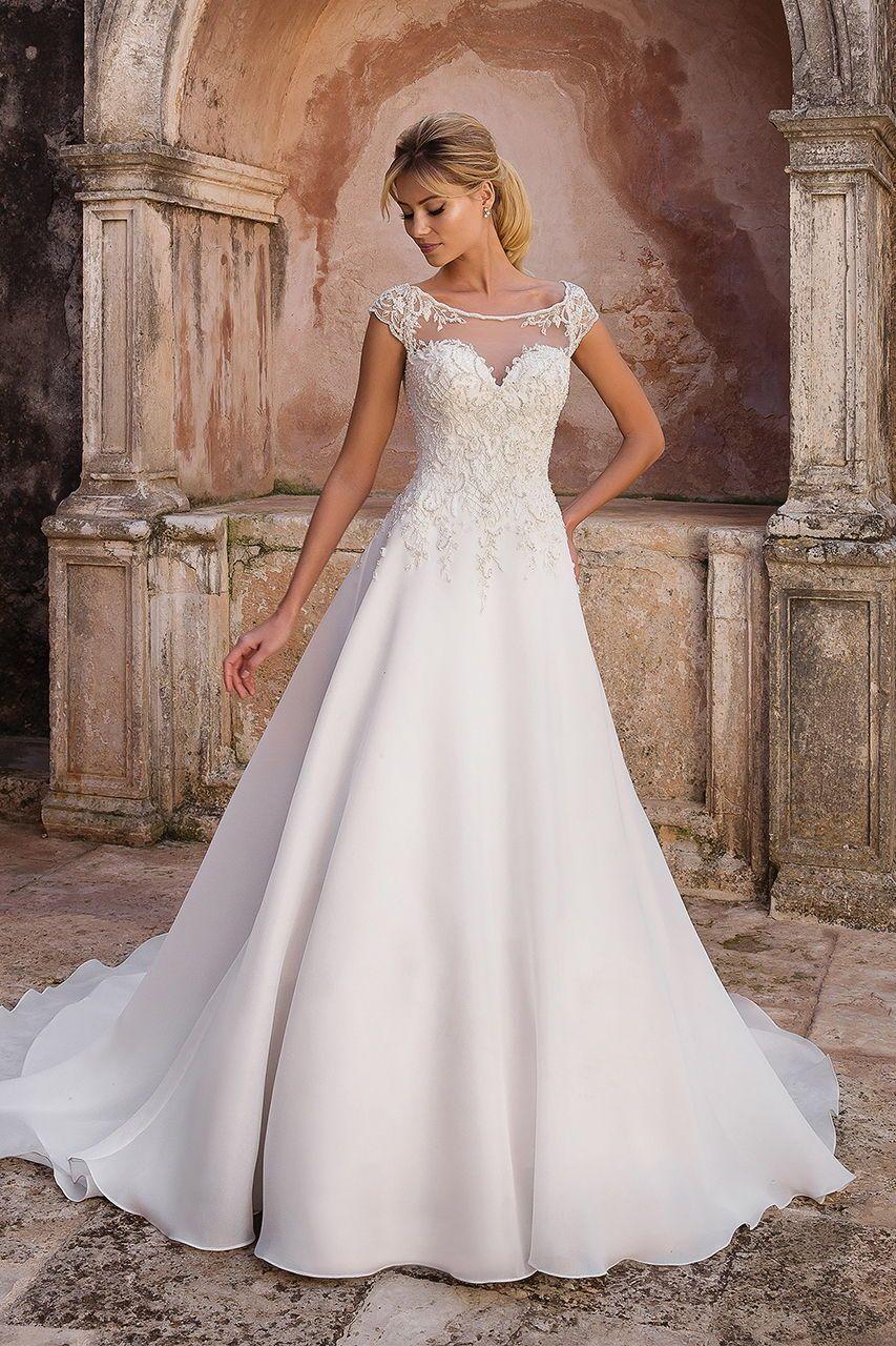 Wedding gown gallery wedding dresses pinterest satin gown