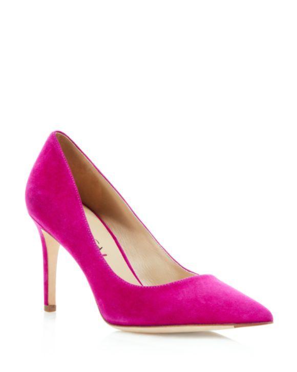 24c432a6875 Via Spiga Carola Suede Pointed Toe Pumps | Clothing I Want | Suede ...