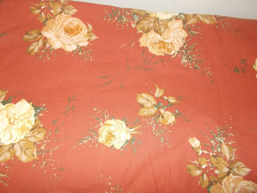 Hyde Park Upholstery Fabric Cabbage Roses Golding Fabrics Vintage