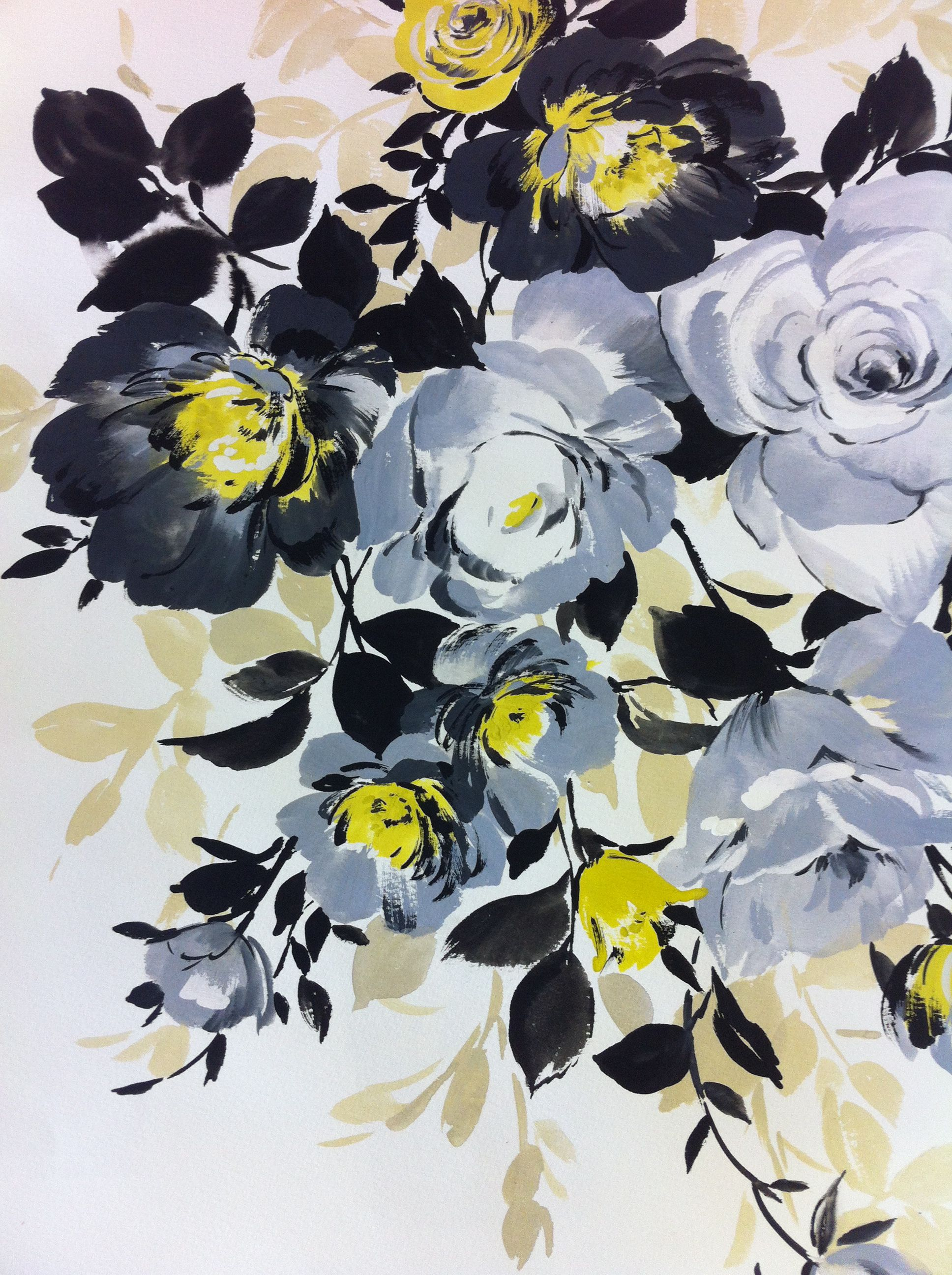 Black And Grey This Is More Inspiration For My Painted Floral