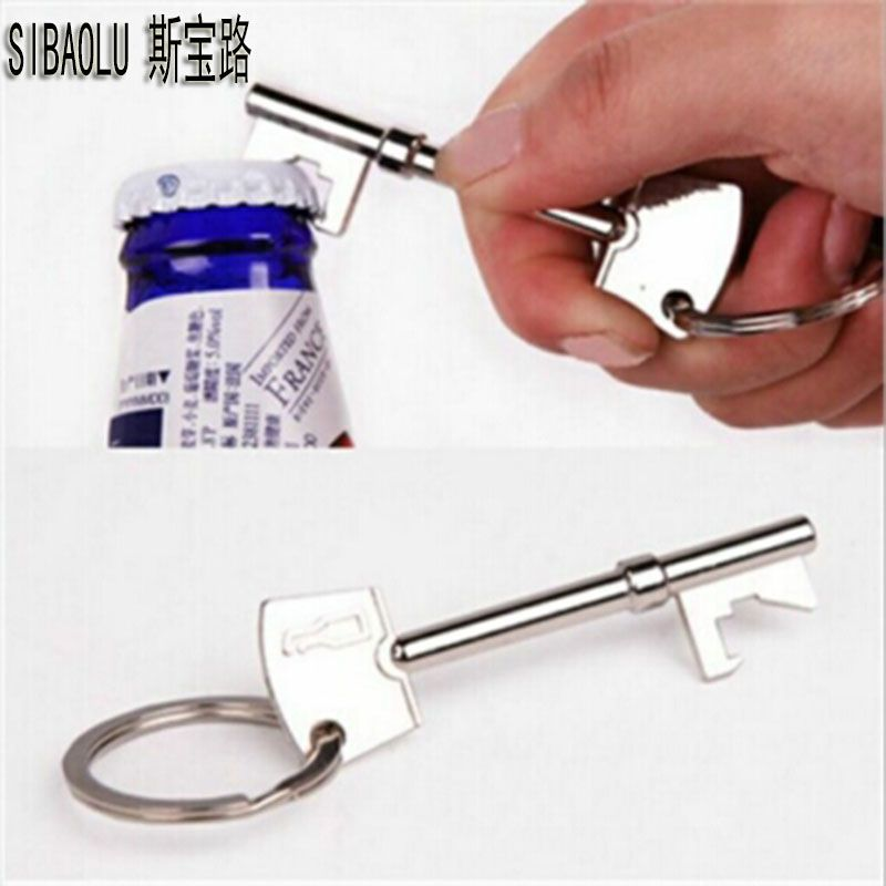 Key Portable Bottle Opener Beer Bottle Can Opener Hangings Ring Keychain Tools X