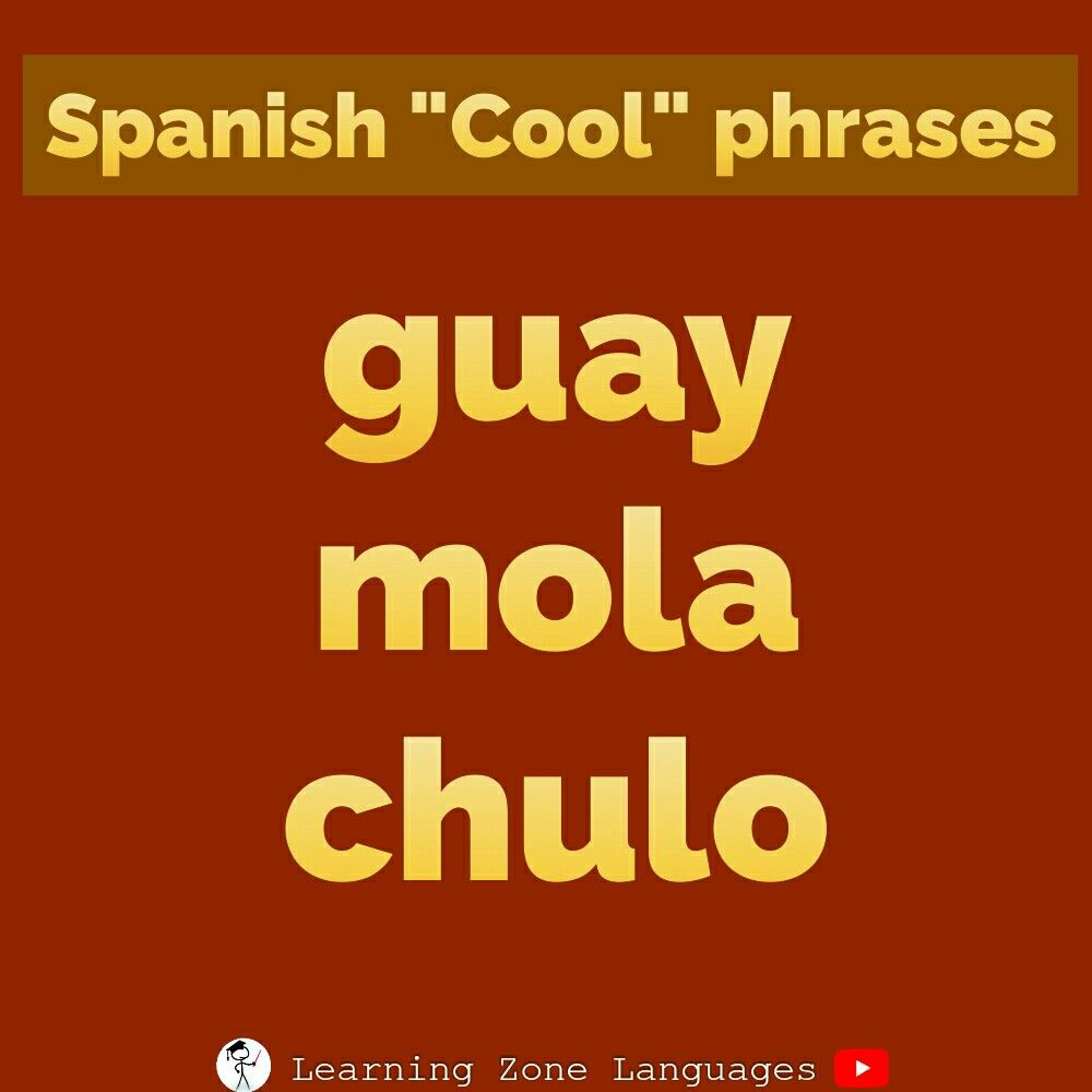 How To Say Cool In Spanish Learning New Words Spanish Words Vocabulary Spanish Vocabulary Exercises Spanish Phrases