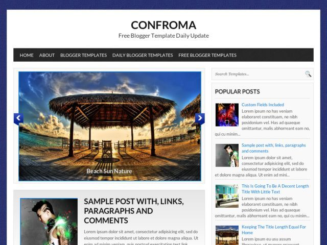 Confroma Blogger Template Fitness inspiration Pinterest - fitness templates free