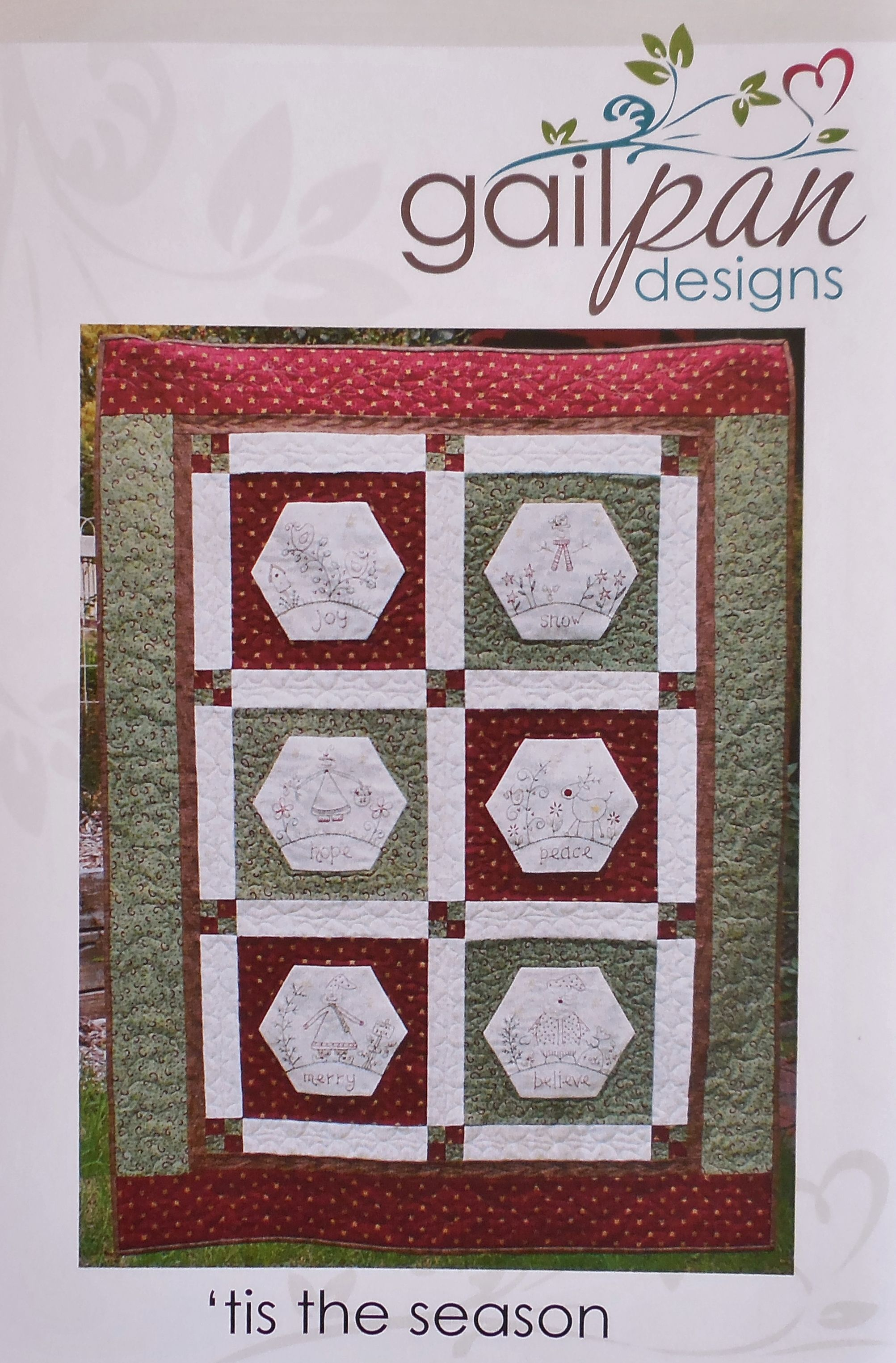 Pattern by Gail Pan Designs - 'Tis the Season - Finished size ... : tis the season quilt book - Adamdwight.com