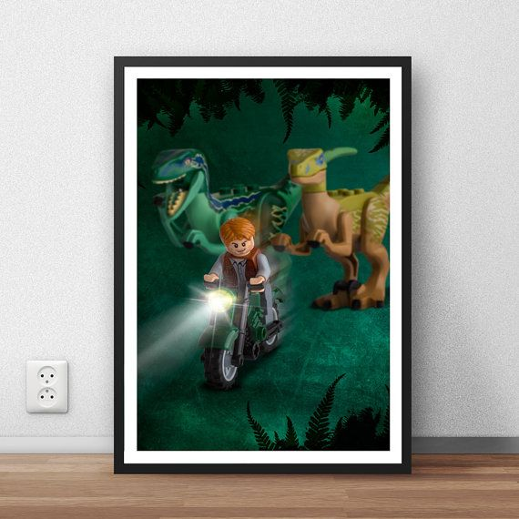 Lego Jurassic World Poster Custom Made Wall Art By