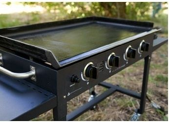 The Blackstone Portable Commercial 36 Gas Griddle Grill, Cast Iron 1554  Will Help Eliminate Long Lines And Cook Food In No Time.