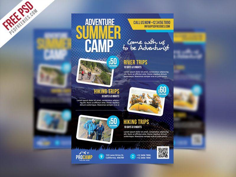 Free Psd Adventure Summer Camp Flyer Template Psd Free Psd