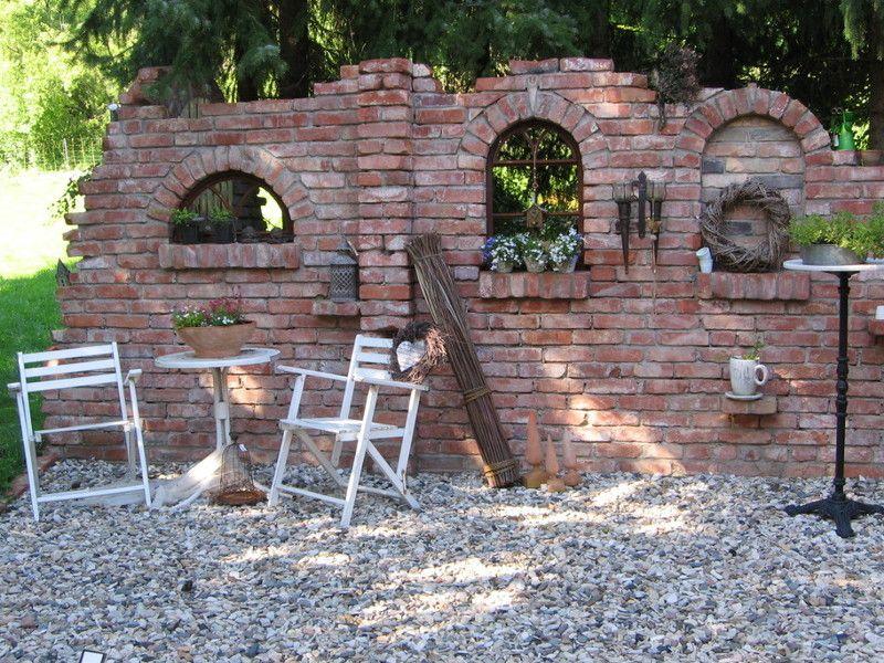 Ruinenmauer Sommer 2013 Wall in the garden Pool remodel