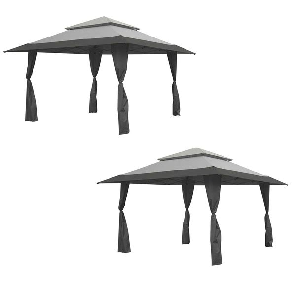 Z Shade 13 X13 Instant Gazebo Canopy Tent Outdoor Patio Shelter Gray 2 Pack Gazebo Canopy Canopy Tent Gazebo