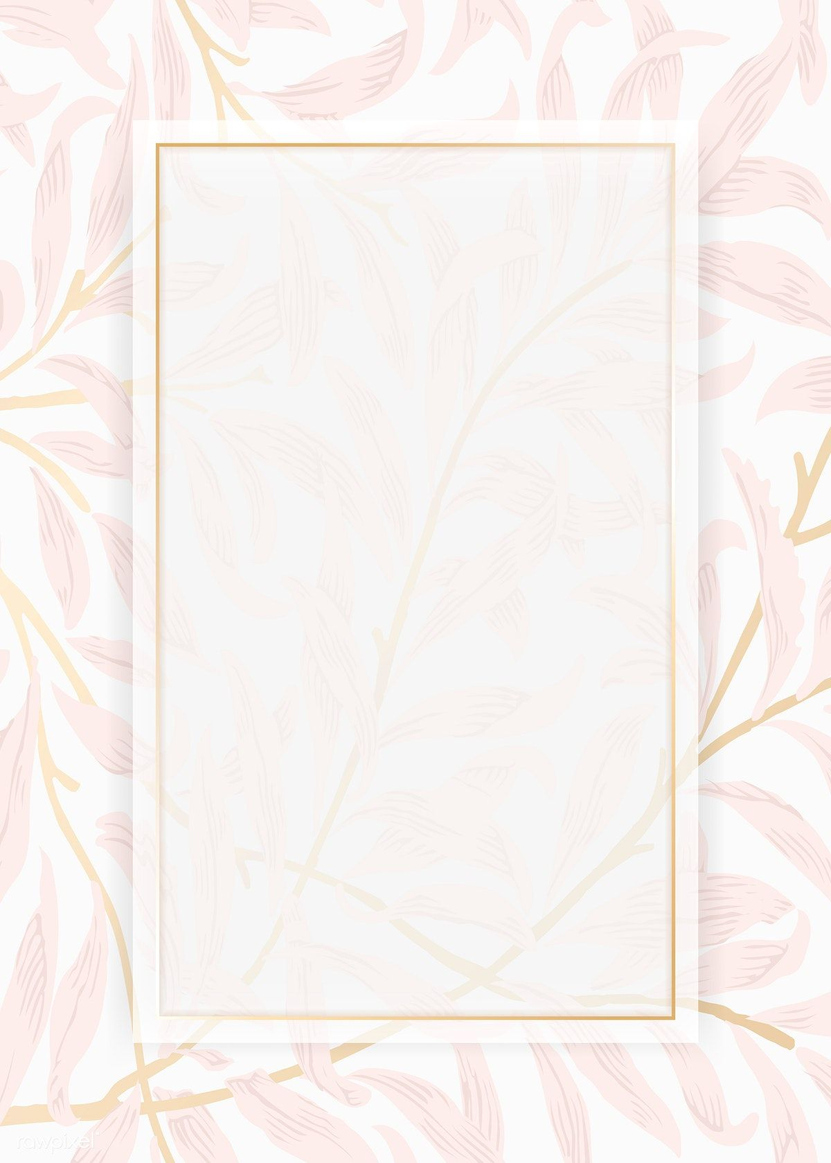 Download Premium Illustration Of Blank Leafy Card Design Vector