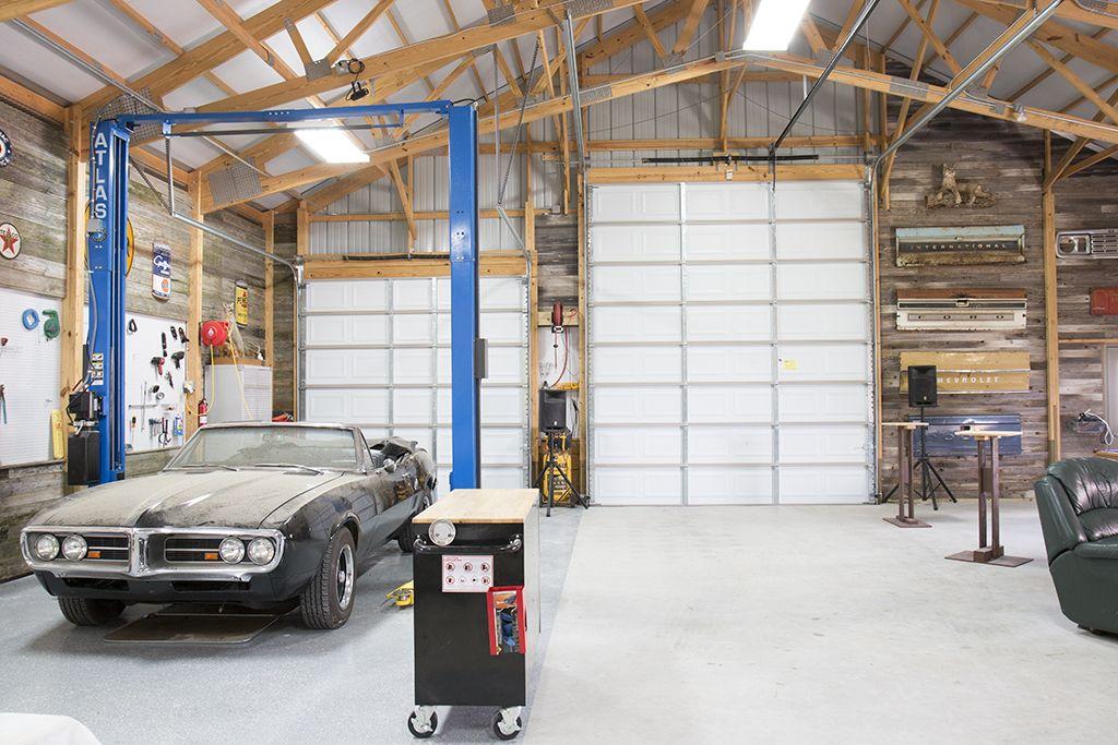 Steve 39 s hobby garage morton buildings 4140 new for Home mechanic garage layout ideas
