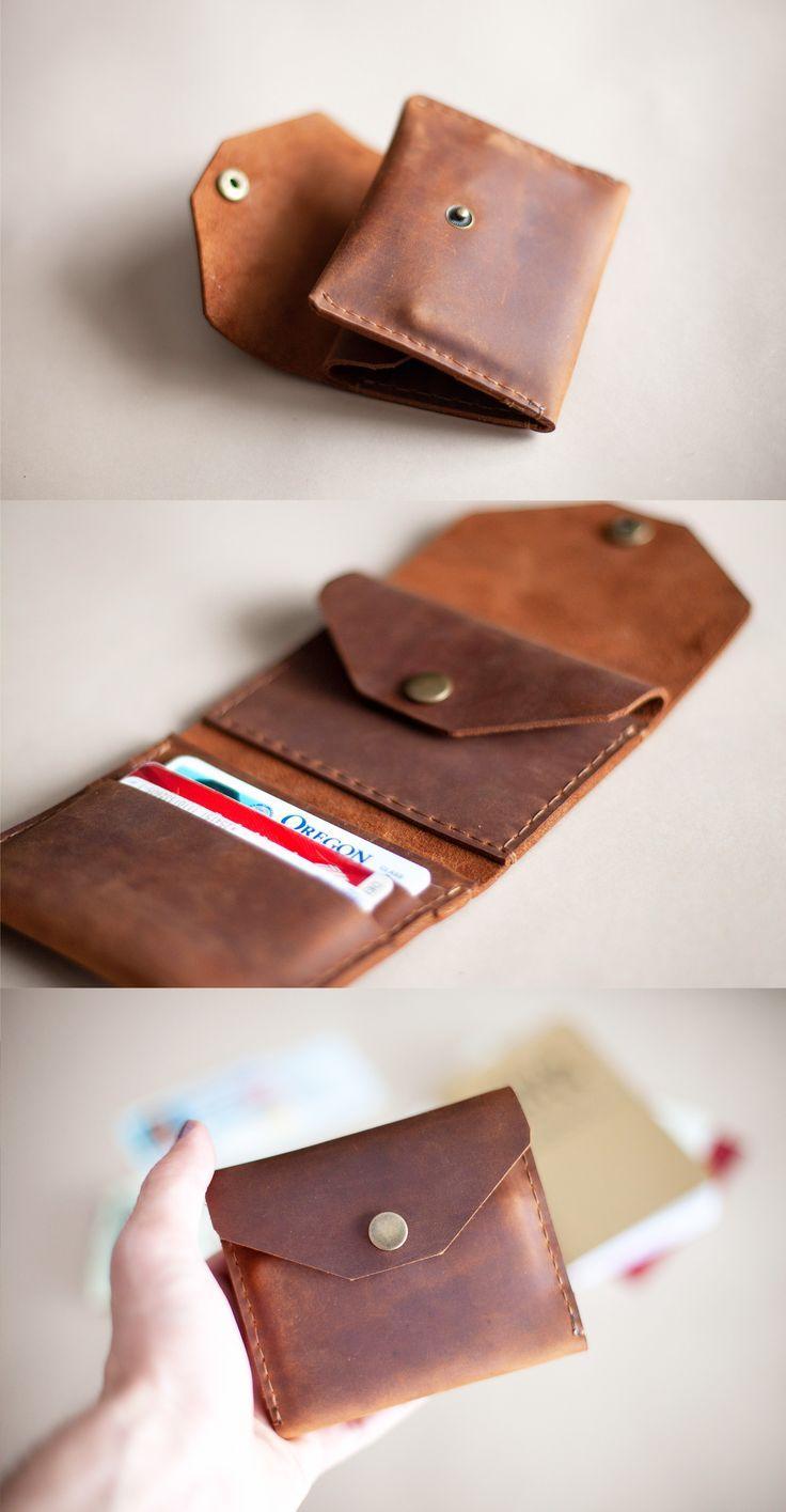 Snap Bifold Wallet #leatherwallets