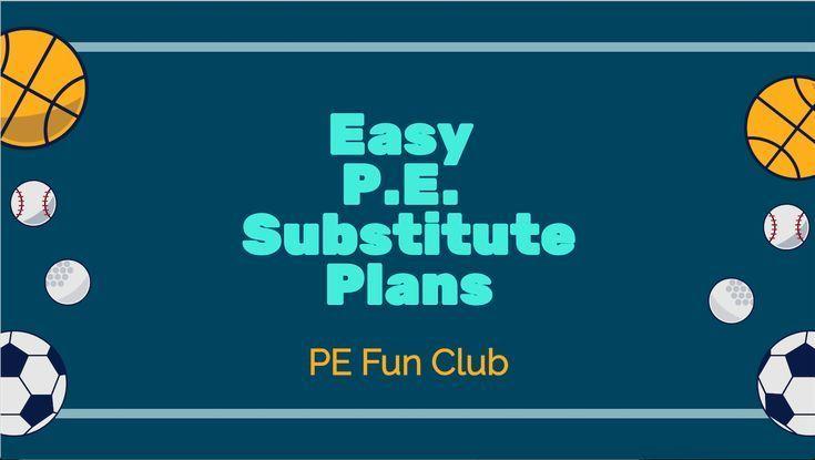 easy p e  substitute plans  u0026 checklist 1
