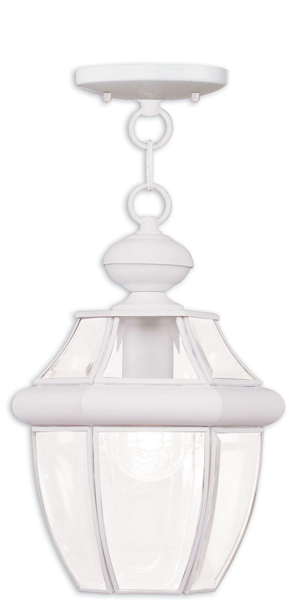 Livex Lighting Monterey White Outdoor Chain Lantern 2152-03