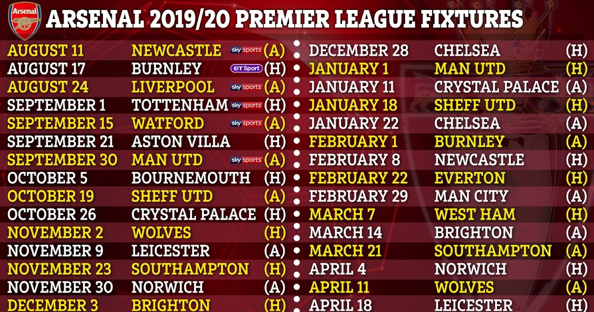 Premier League 2019 20 Fixtures Chelsea Arsenal Man Utd Premier League Fixtures For 2019 20 Announc In 2020 English Premier League Premier League Premier League Logo