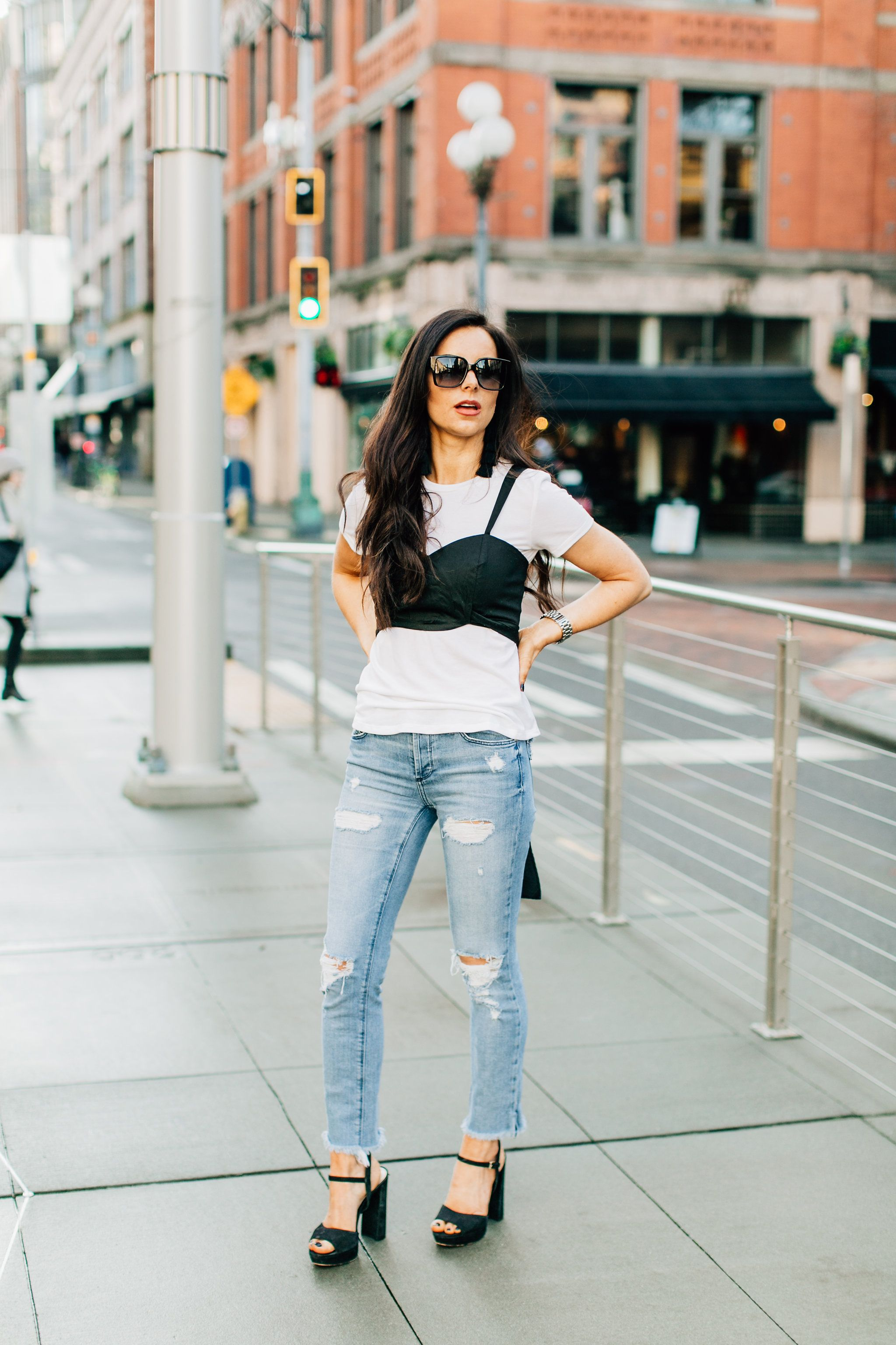 Fashion week How to denim wear bustier top for woman