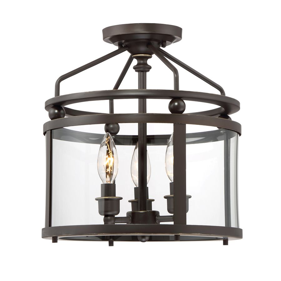Lowes Quoizel Norfolk 11 87 In W Oil Rubbed Bronze Clear