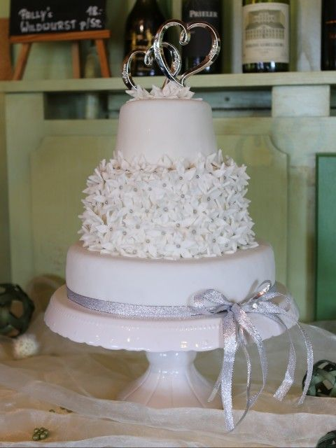 Hochzeit Torte Weiss Silber Hochzeitstorten