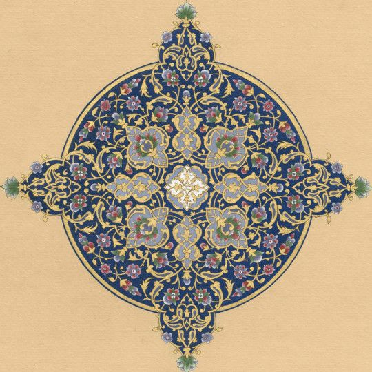 AL RAQI  The Sophisticated One  Shell Gold & Natural Pigments On Prepared Paper 27.5 x 40 cm 2012 http://www.danaawartani.com