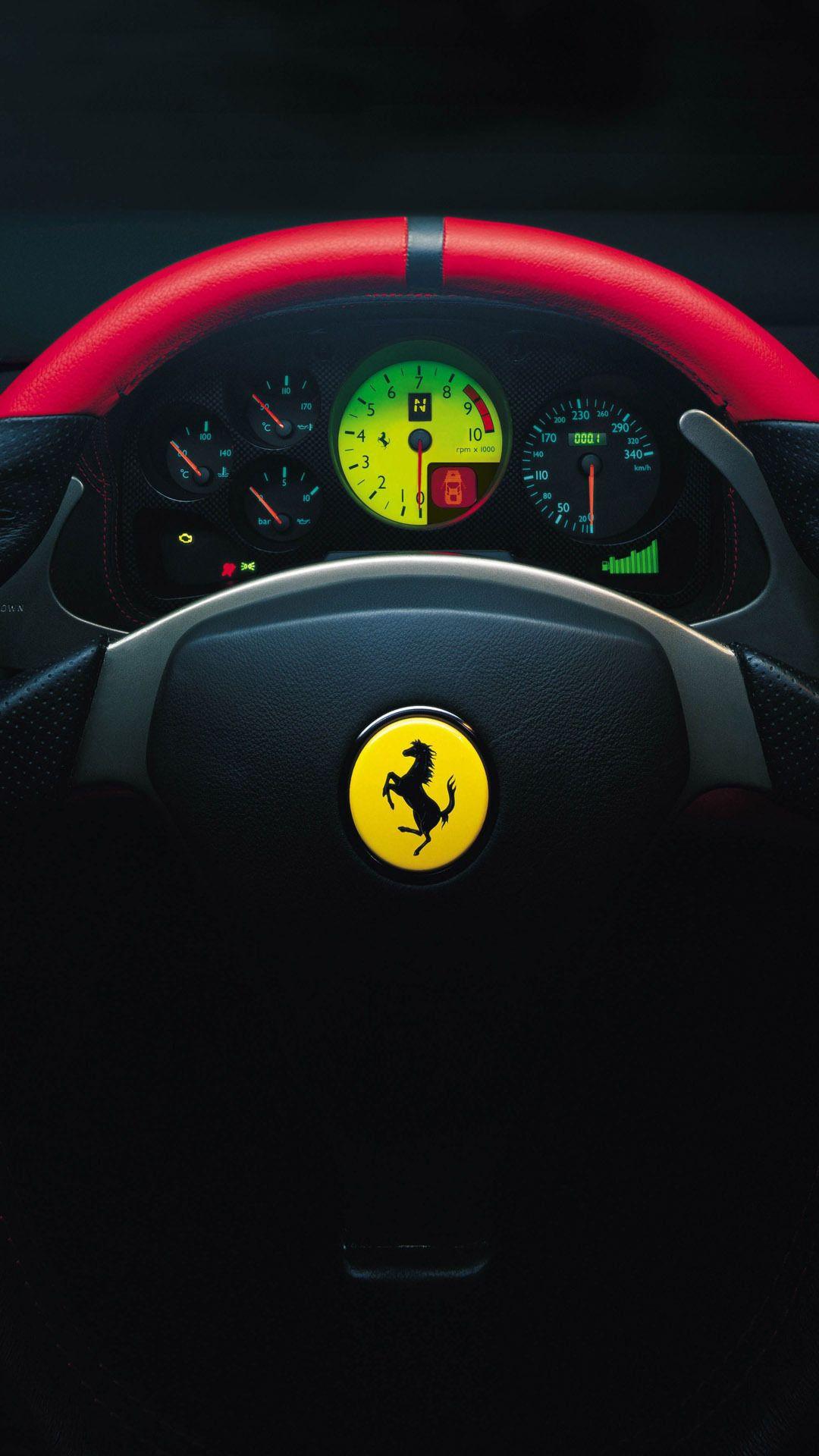 Cars Ferrari 360 Challenge Stradale Dashboard Android Wallpaper