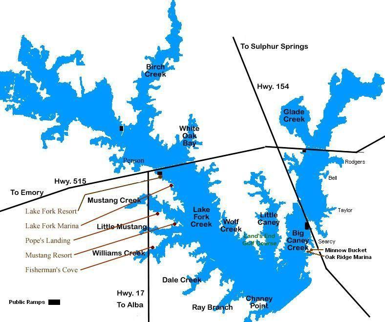 Lake fork online map bass fishing texas fishing forum for Fishing lake fork