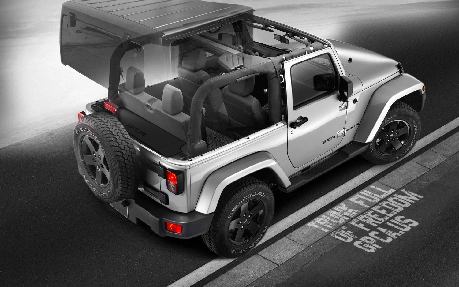 Gpca Jeep Wrangler Jk 2 Door Trunk Cargo Cover 3 Awesome Rear Sub Configurations