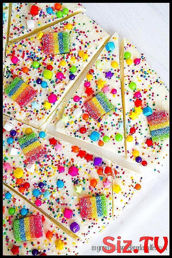 S    igkeiten-Regenbogen-Barken-Rezept-helle bunte