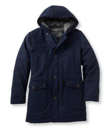 Men's Allagash Down-Lined Wool Coat | Free Shipping at L.L. Bean