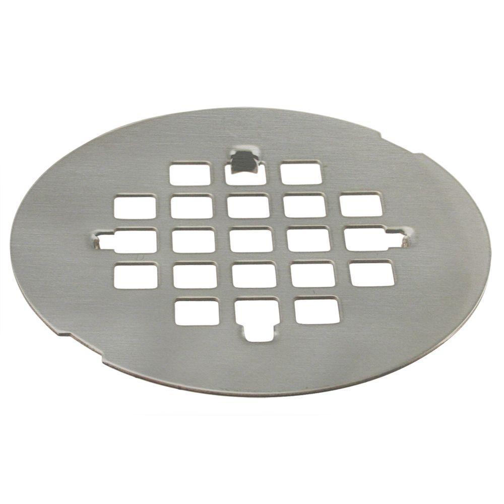 4 1 4 In Brass Snap In Shower Strainer Grid In Satin Nickel D319