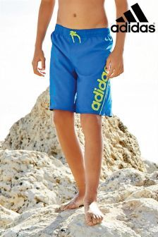 adidas Blue/Volt Swim Shorts (7-16yrs)