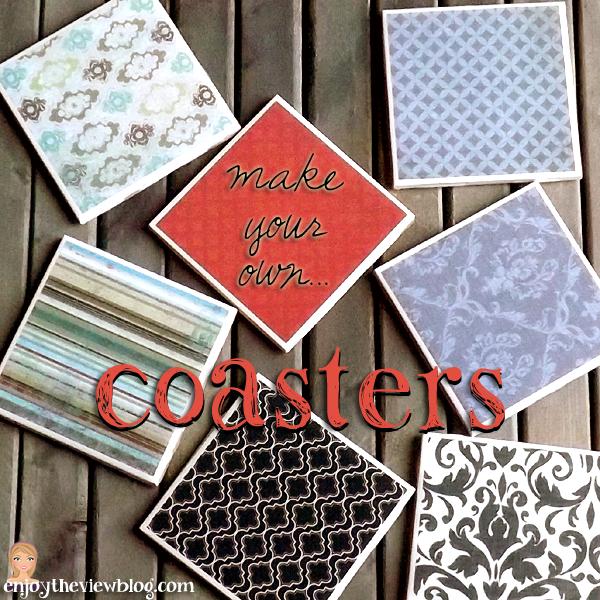 diy make your own coasters a tutorial by enjoytheviewblog com