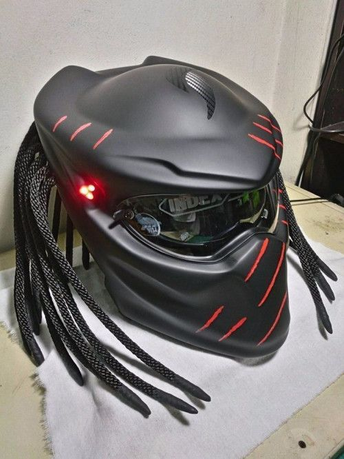 free motorcycle l  Custom Predator Motorcycle Helmet Size S - M - L - XL FREE SHIPPING ...