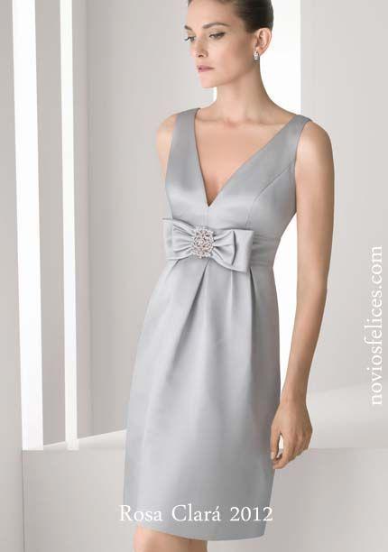 Vestidos cortos fiesta gris