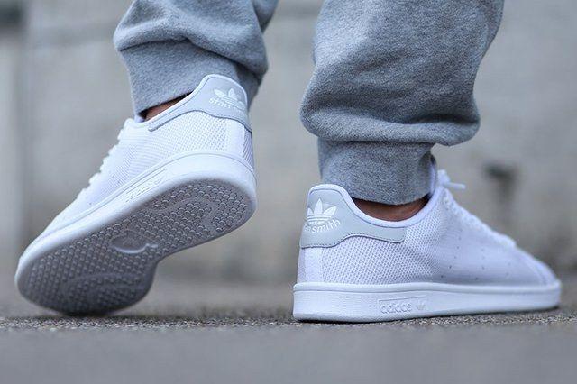 Adidas Stan Smith (Bianco / Luce Solida Grey), Scarpe Da Ginnastica Sgorbio Uomo