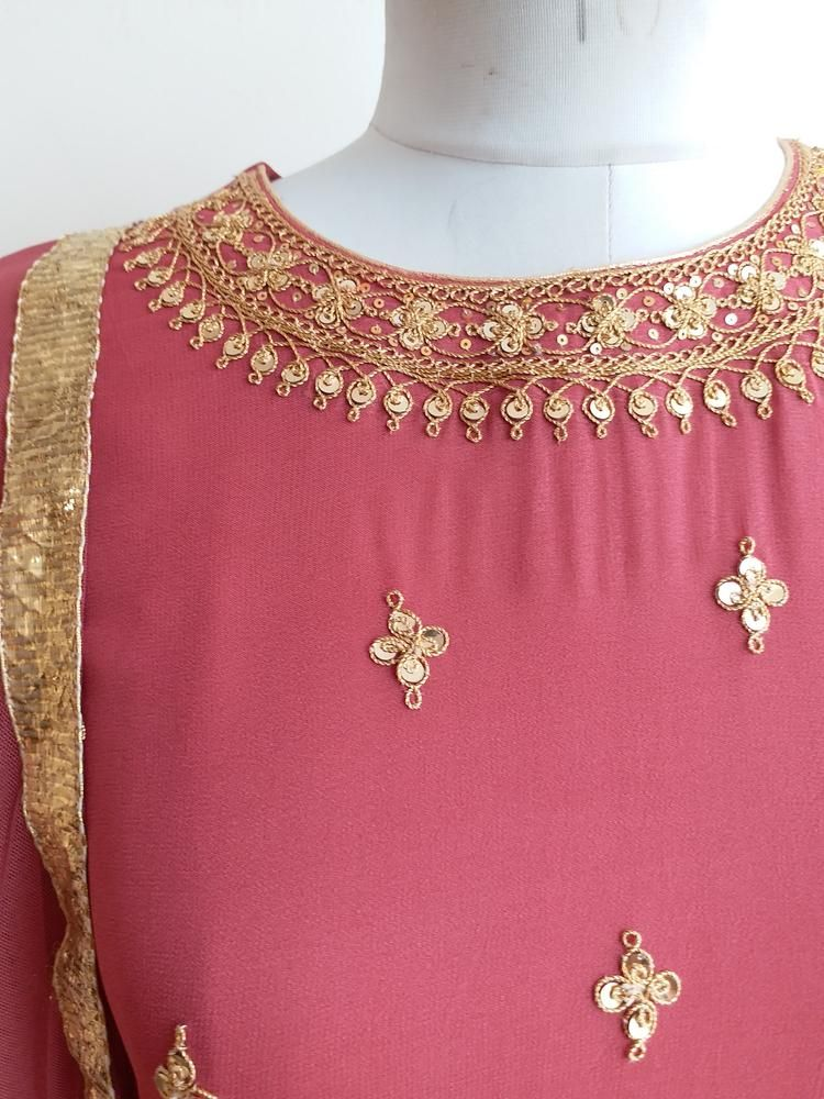 Description intricate marodi handwork on front bodice and sleeves net dupatta mtr with all also rh pinterest