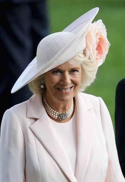 Camilla, Duchess of Cornwall on the fourth day of Royal Ascot at Ascot Racecourse  on June 17, 2016 in Ascot, England.