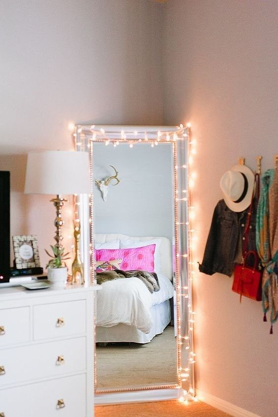 Cute Ways To Decorate Your Bedroom With String Lights Teen - String lights for girls bedroom