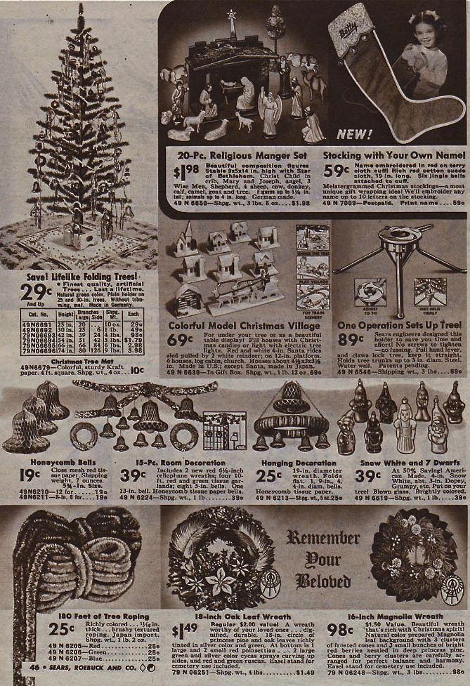 Sears 1940 catalog page