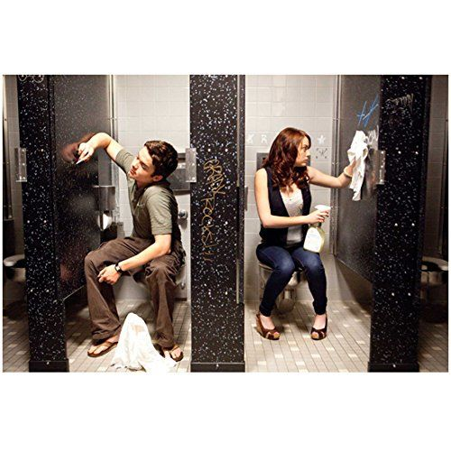 Easy A with Emma Stone as Olive Cleaning Bathroom Stall 8 x 10 Inch Photo