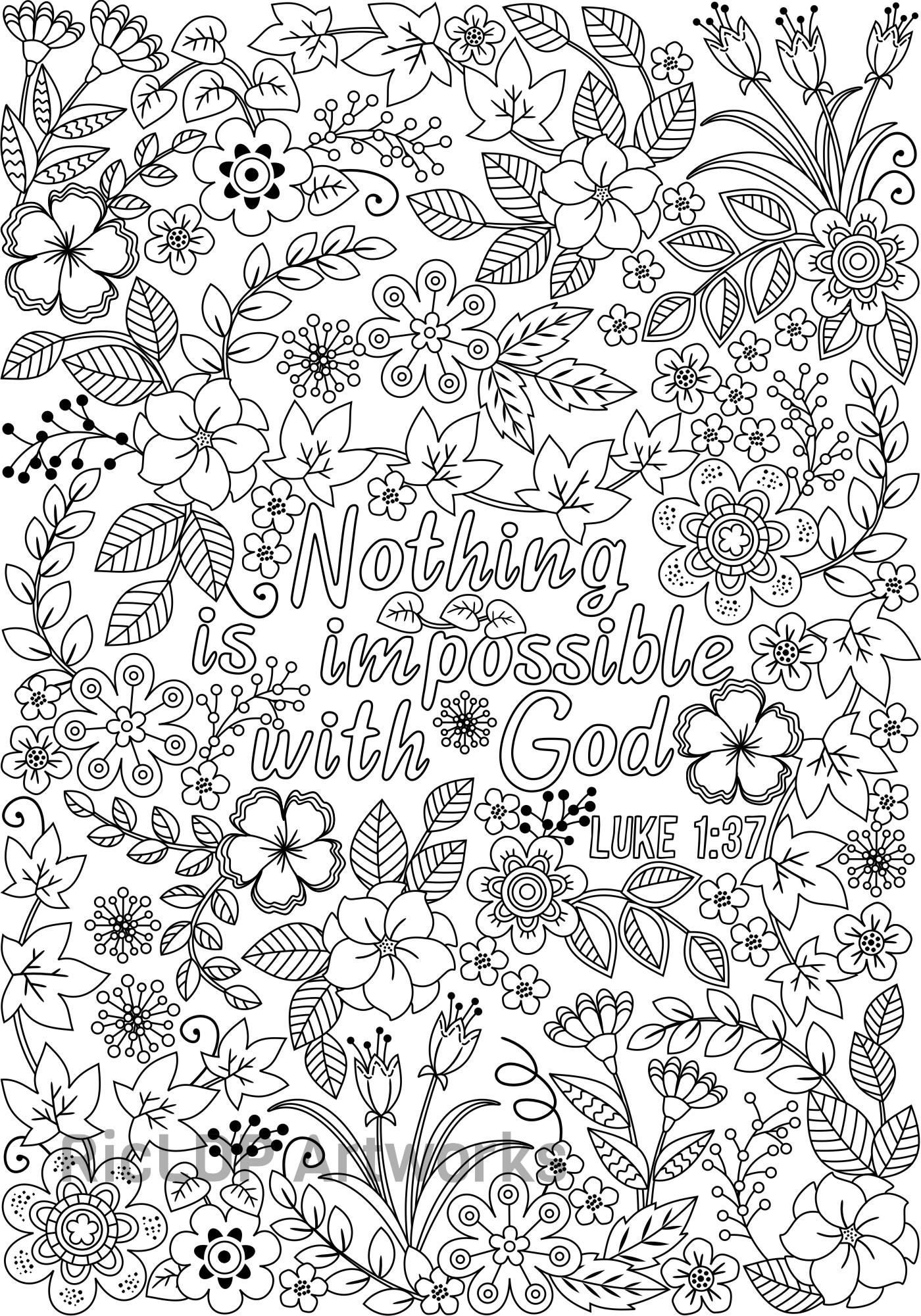 three bible coloring pages for grown ups 3 coloring posters