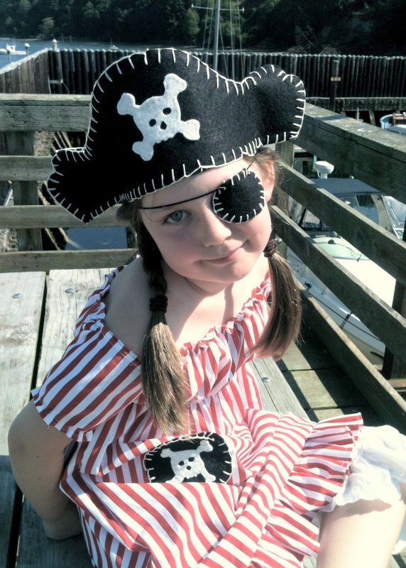 Pirate Hat  Eyepatch Tutorial w/templates PIRATE Party