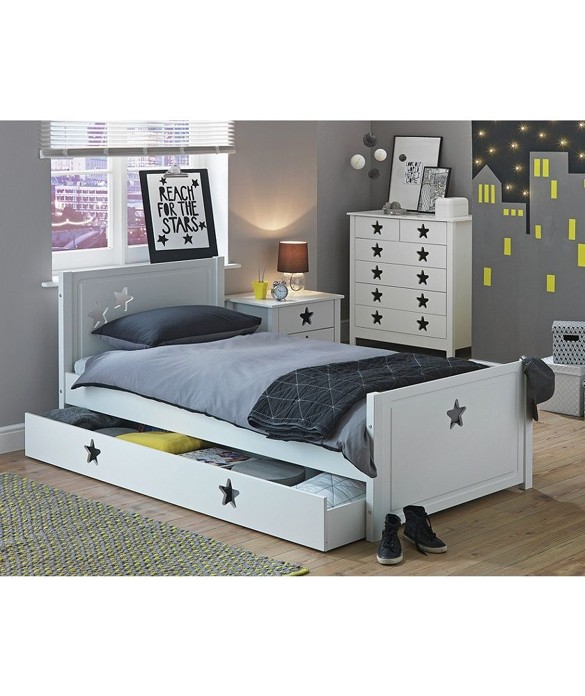 Buy Argos Home Stars White Single Bed With Drawer Kids Beds Bed With Drawers Kids Single Beds Kid Beds