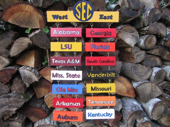 Man Cave Craft Eats Bacon : Sec teams standings football signs man cave decor wall