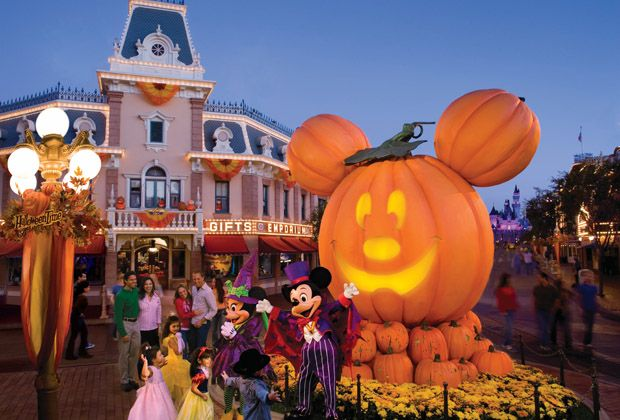 disneyland halloween time and mickeys halloween party is not all scary and a lot of fun offering special decorations surprises and special ride features - Disneyland Hours Halloween