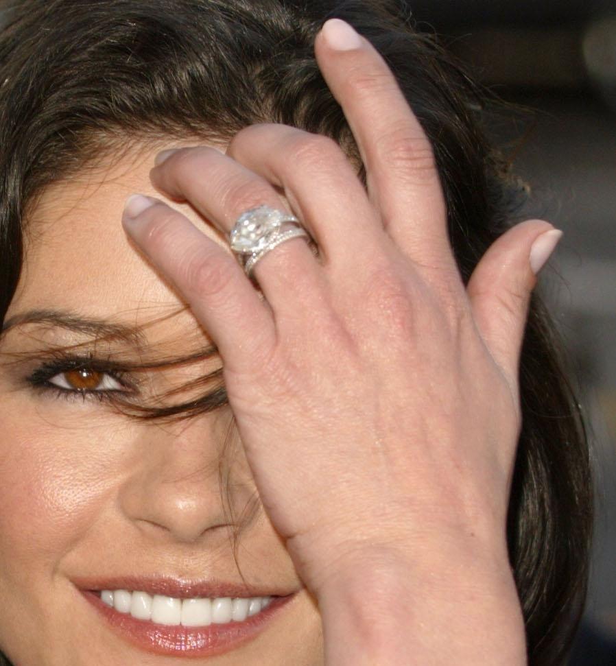Catherine Zeta Jones S Marquise Engagement Ring