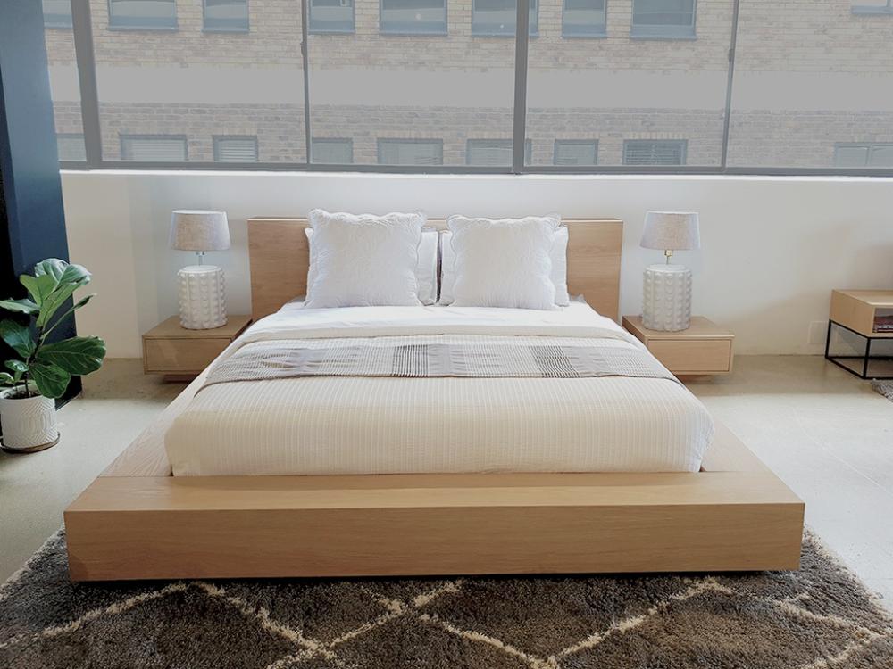 Floating Platform Bed Antares Oak Clear Finish Beds Floating Platform Bed Platform Bed Designs White Platform Bed