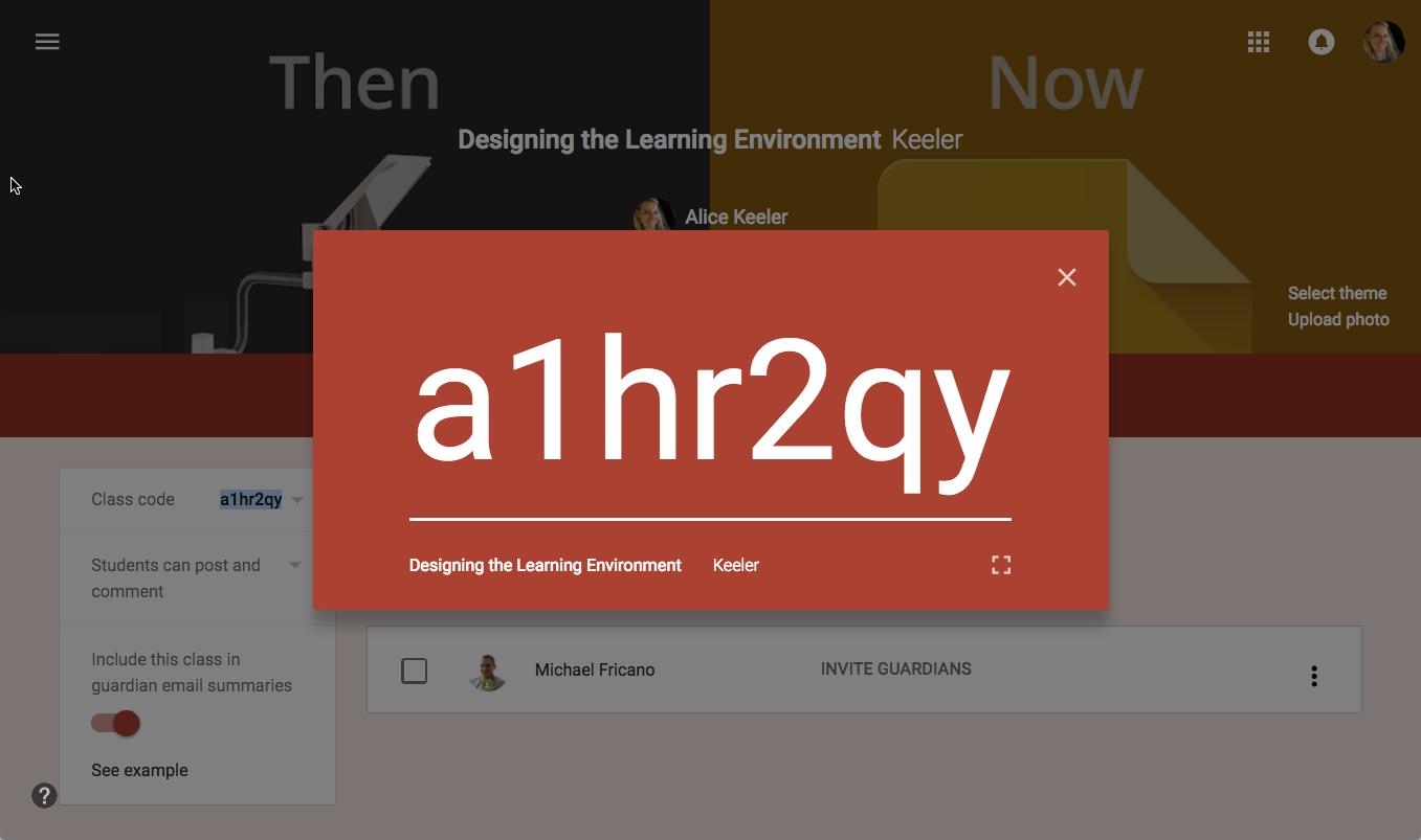 NEW Google Classroom Display the Class Code   Google ...
