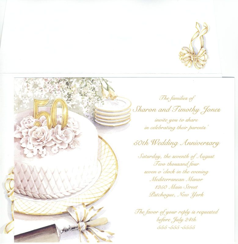 50th Wedding Anniversary Invitation Ideas: 50 Wedding Anniversary Cards